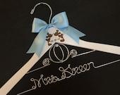 Cinderella Wedding Hanger, Disney Bride Hanger, Bridal Hanger, Mickey & Minnie Wedding, Disney Wedding, Personalized Hanger, Fairytail Bride