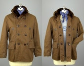 1940s Barnstormer Double Breasted Daniel Boone Shawl Collared Hunting Jacket