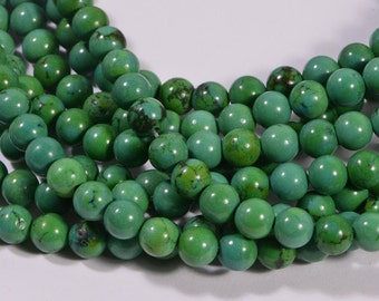 Turquoise Full Strand Beads 6.1 mm Natural Gemstone Beads Jewelry Making Supplies