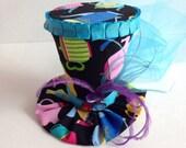 Mini Top Hat for Alice in Wonderland Birthday - Tea Party Top Hat - Mini Top Hat - Tea Pot Mini Hat
