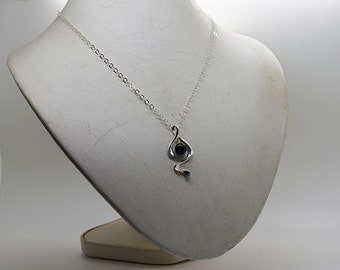 Onyx Sterling Silver Necklace 01