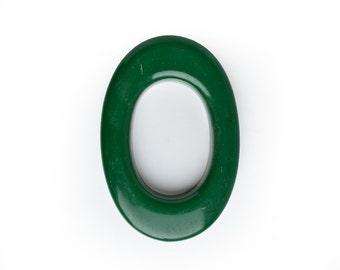 """6 1/2"""" vintage letter O, dark domed green plastic, vintage sign letter, MCM letter, from Elizabeth Rosen"""