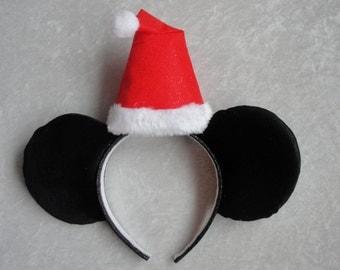Santa Hat Mickey Ears