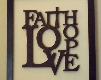 Faith Hope and Love Wall Hanging