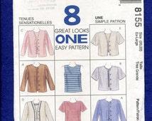 McCalls 8155 Tank & Tee Shirt Bolero Jackets Pattern Sizes Extra Large 20/22 UNCUT