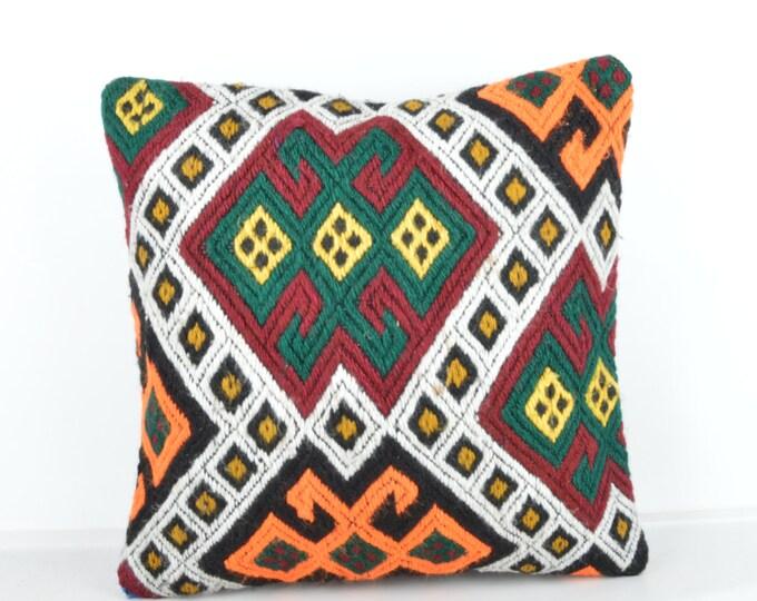 Kilim pillow, Kilim Pillow Cover k452, Turkish Pillow, Kilim Cushions, Bohemian Decor, Moroccan Pillow,  Bohemian Pillow, Turkish Kilim