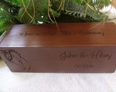 Wedding Wine Box, Rustic Wine Box, Wine Box, Love Letter Box, Wedding Gift, Anniversary Gift
