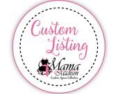 Custom Listing For Jilly...Mr. and Mrs. Custom Bridal Aprons