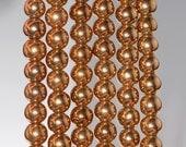 8mm Bronze Hematite Gemstone Bronze Round 8mm Loose Beads 15.5 inch Full Strand (80000685-283)