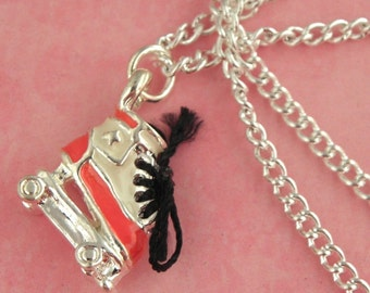 Roller Derby Boot Skate Charm Necklace - Rockabilly Pinup Jewellery - Rollerskates Bootskates Necklace - Derby Girls Jewelry