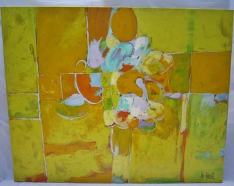 Lee Reynolds, Mid Century Abstract Painting