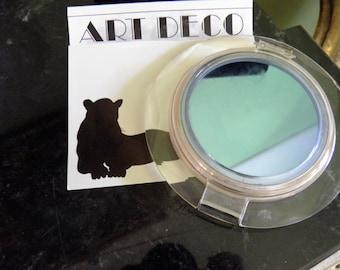 Lucite Art Deco, Retro Compact, Vanity, Mirror