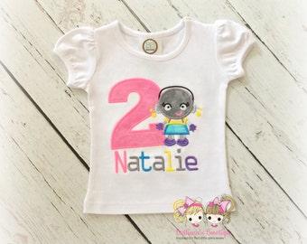 Girls robot birthday shirt - robot themed birthday shirt - 1st birthday robot shirt - personalized robot shirt for girls - embroidered shirt