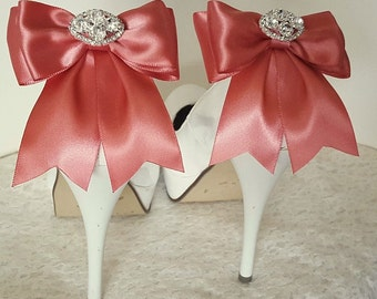 MANY COLORS AVAILABLE, Wedding Shoe Clips, Bridal Shoe Clips,  Rhinestone Shoe Clips, Bow Shoe Clips, Clips for Wedding Shoes, Bridal Shoes