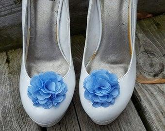 Light Blue Shoe Clips,  Wedding Shoe Clips, Rose Shoe Clips,  Roses, Bridal Shoe Clips, Shoe Clips, Clips for Wedding Shoes, Bridal SHoes