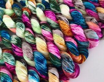 classic {sock} mini's | KARMA | ready to ship | hand dyed yarn | merino nylon