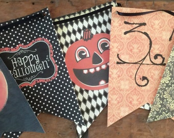Vintage Halloween Banner digital download