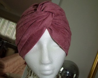 Vintage lot(4) of Turban Head wraps, metallic blk,gold, pink velour,metallic silver net, and metallic gold