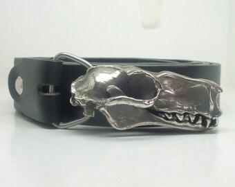 Hammer Head Bat Skull Belt Buckle *without belt* - White Bronze
