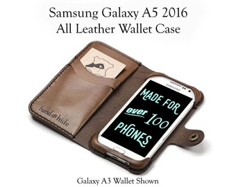 Galaxy A5 2016 Leather Wallet Case / samsung a5 case / a5 phone case wallet / leather phone case / wallet phone case / personalized case