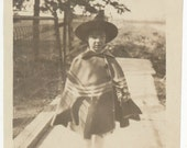 Wicked Witch Hat Halloween costume snapshot old photo vernacular photograph found photo