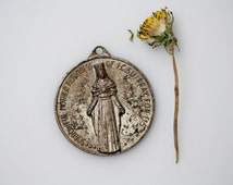 Vintage Catholic Sorrowful Mother Medal  - First Catholic Slovak Union Pendant - Vintage Religious Catholic Medal