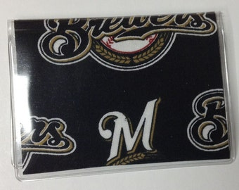 Milwaukee Brewers, Credit Card Case, Card Case, Debit Card holder, Credit Card Holder