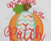 Cutest Pumpkin in the Patch Machine Embroidered shirt