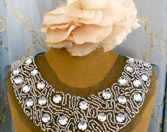 Clear Stone Beaded Appliques