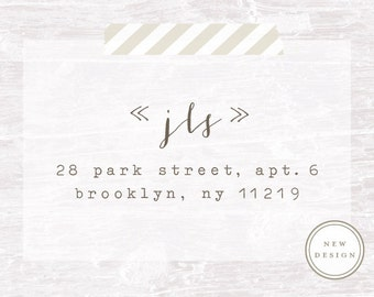 Address Stamp, Custom Address Stamp, Wood handled Rubber Stamp, Calligraphy Stamp, Personalized Gift, Rubber Stamp, Housewarming Gift