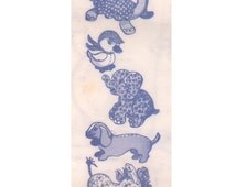 Design 975 Vintage 1960s Transfer Pattern For Making Miniature Stuffed Animal Toys Elephant Donkey Turtle Duck Dog Child