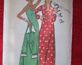 1970's Ladies Butterick Pattern Vintage Evening DRESS & JACKET