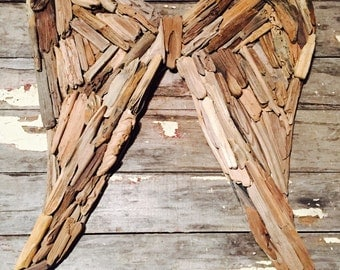 Driftwood Angel Wings-Made to Order-Jersey Shore, wings, angel