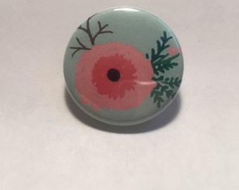 Flower Pinback Button