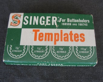 Box Singer Buttonholer Templates 160668 for 160506 and 160743