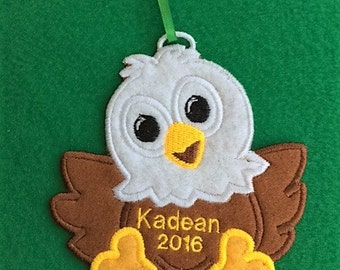 Personalized Eagle Ornament or Gift Tag