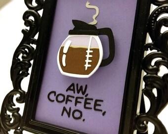 Aw, coffee, no. / Hawkeye Mini Frame