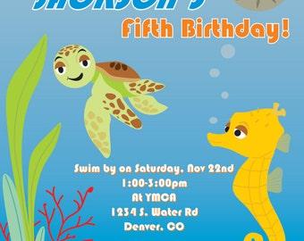 Under the Sea Party Invite