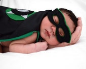 Baby Super Hero Cape - Newborn Photo Shoot Super Hero Prop - Custom Baby Super Hero Cape - Personalized Cape - Stuffed Animal Mask and Cape