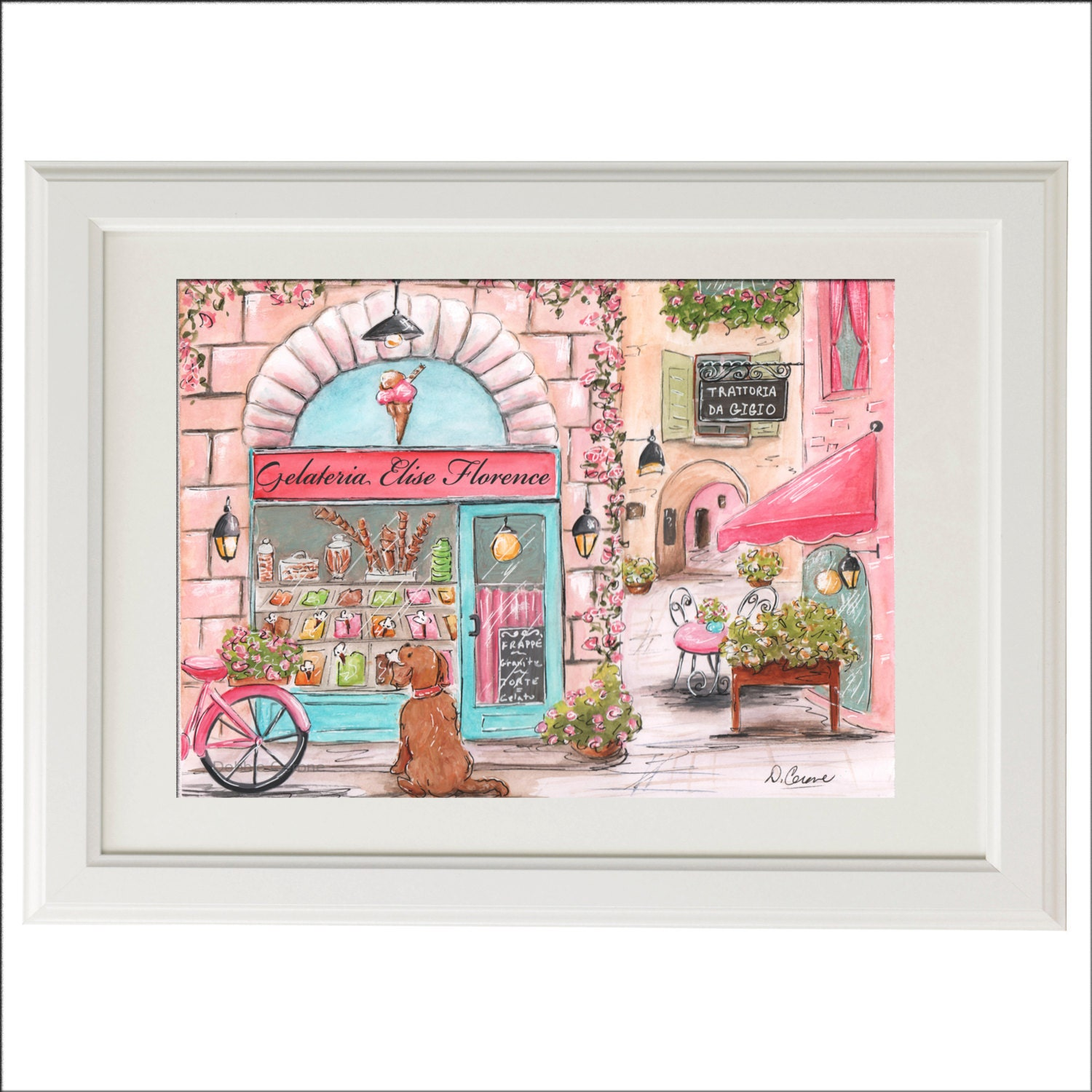Travel themed nursery italian nursery decor nursery wall for Nursery wall art