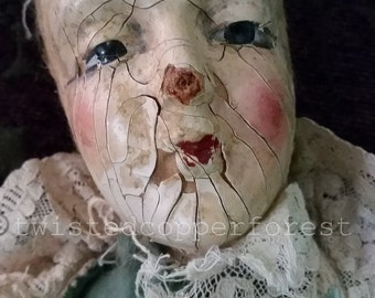 Fine art photography vintage doll head 8 x 10 color photo
