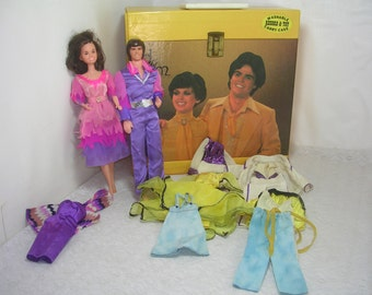 Vintage Donnie & Marie Dolls Clothes Record And Toy Carry Case