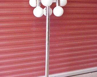 SONNEMAN Space Age Chrome Moon Globe Floor Lamp, Mid Centuy Modern Lighting