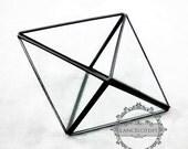 1pcs 17x12x9.5cm geometric rhombus glass terrarium transparent flower arrangement air plant planter greenhouse home decoration 0100005