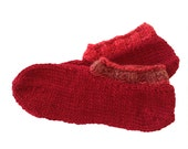 Slippers, Hand Knit Slippers, RESERVED FOR TIZA