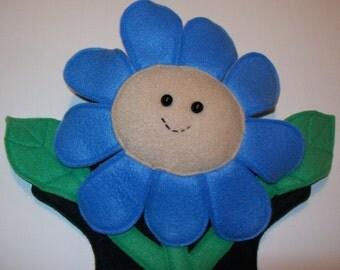 """14"""" Fleece Flower Hand Puppet - Ready to Ship!"""