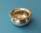 Reserved:  Pretty Little Sterling Silver Salt Dish