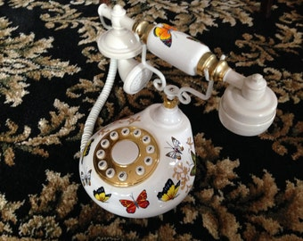 Vintage Butterfly Telephone