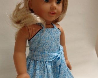 18 inch American Girl Doll Clothes - Halter Dress for Summer