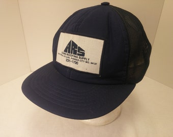 Vintage 1980s Snapback Baseball Cap - ARS Adams Roofing Supply -  Hipster, Mowers, Landscaping, Retro, Mens Accessories